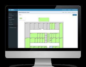 Интерфейс учета площадей в программе