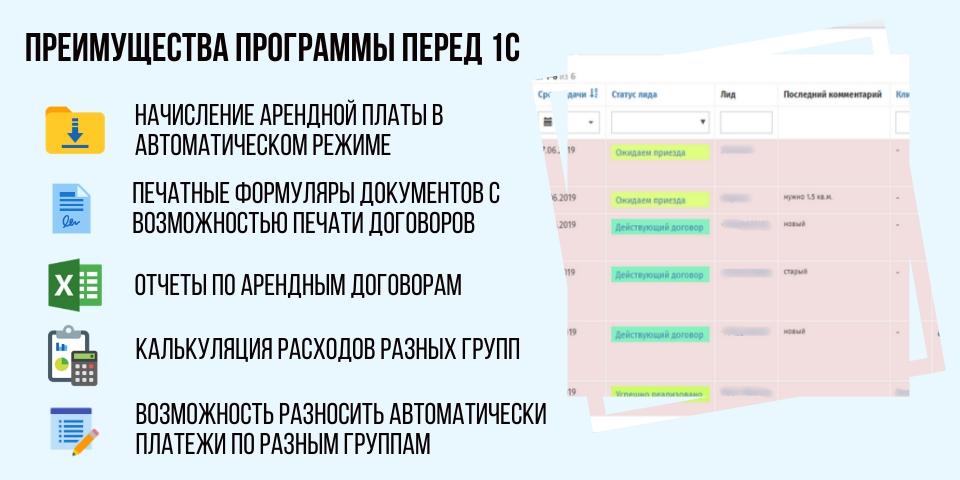 Интеграция Арендасофт с 1С для учета имущества